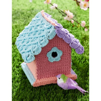 Yarn-Bombed Birdhouse