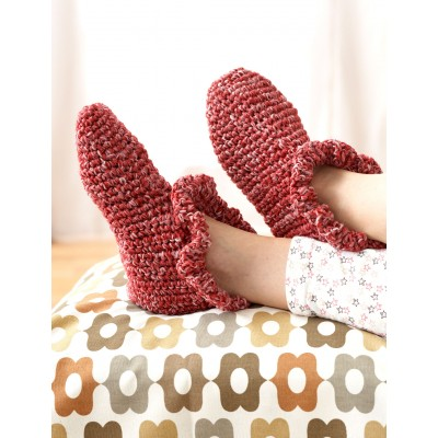 Ruffle Edge Slippers