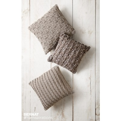 Bernat Crochet Pillow Trio Crochet Pattern Yarnspirations