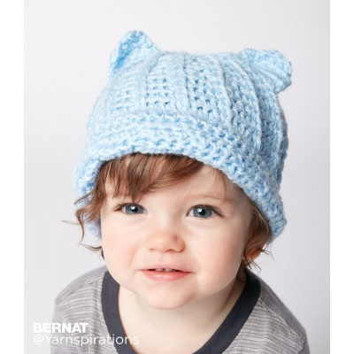 Baby Crochet Kitty Hat