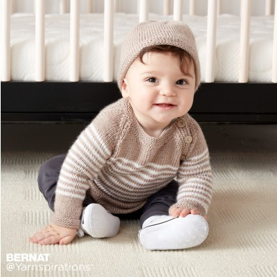 Wee Stripes Knit Pullover and Hat
