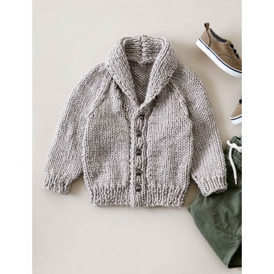 Baby Shawl Collar Knitting Pattern : Bernat Shawl Collar Cardigan, Knit Pattern Yarnspirations