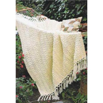 Popcorn and Lace Afghan