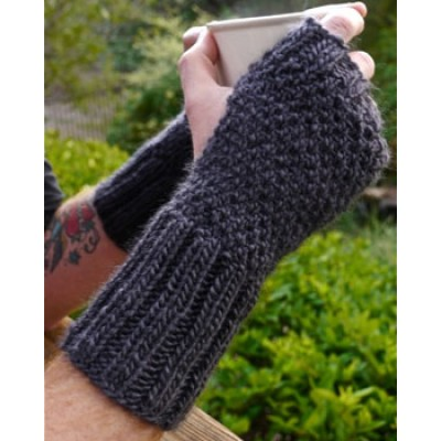 Wrist Warmers Knitting Pattern : Bernat Hand-Tastic Wrist Warmers, Knit Pattern Yarnspirations