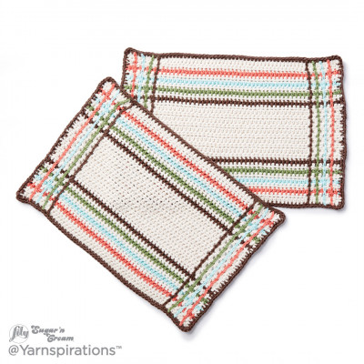 Mad For Plaid Crochet Placemat