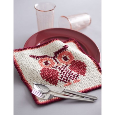 Owl Cross Stitch Dishcloth