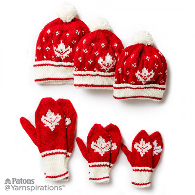 Canada Knit Toque and Mittens