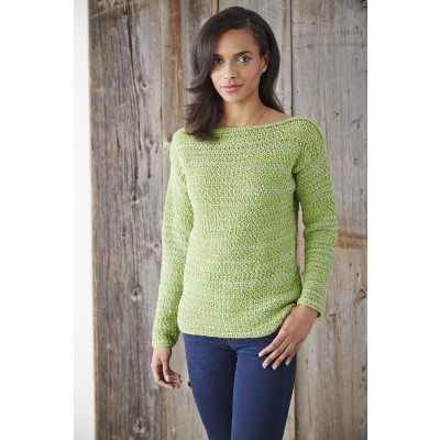 Free Crochet Sweater Patterns To Download : Patons Boat Neck Pullover, Crochet Pattern Yarnspirations