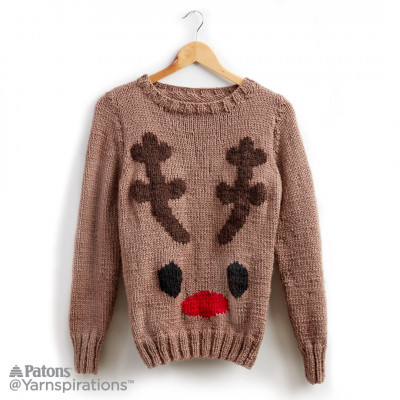 Reindeer Knit Holiday Sweater