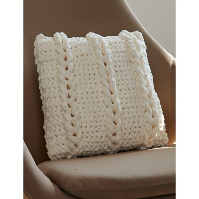Crochet Patterns Pillows : Chain Links Pillow -free crochet pattern-