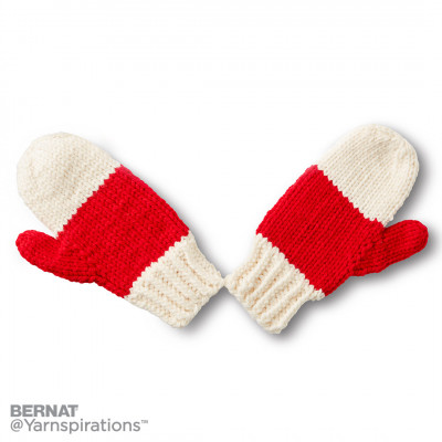 State your Nation Knit Mittens