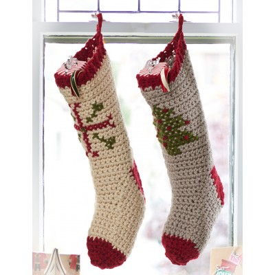 Crochet Patterns For Xmas Stockings : ... Patterns: FREE CROCHET PATTERN FOR TRADITIONAL CHRISTMAS STOCKINGS