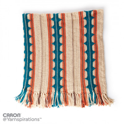 Southwest Stripe Crochet Blanket