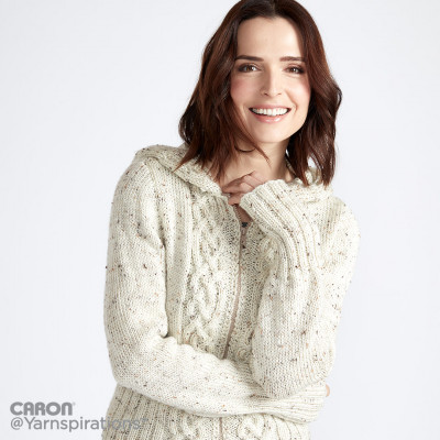 Cozy Cable Knit Hooded Cardigan