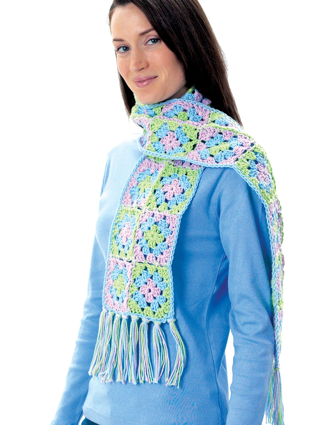 Granny Square Scarf - Patterns Yarnspirations