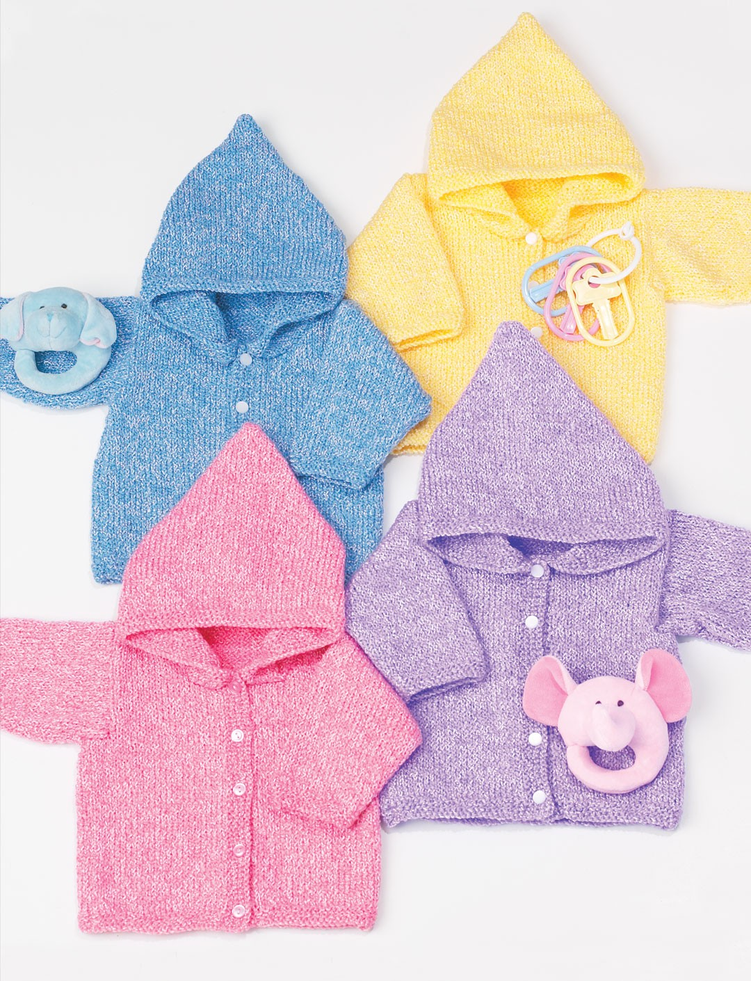 Baby Knitting Pattern Hoodie With Ears : Babys Hoodie - Patterns Yarnspirations