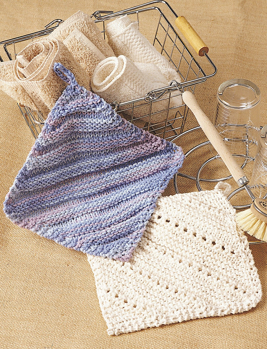 Simple Dishcloth Knitting Pattern : Simple Ridge & Eyelet Dishcloth - Patterns Yarnspirations