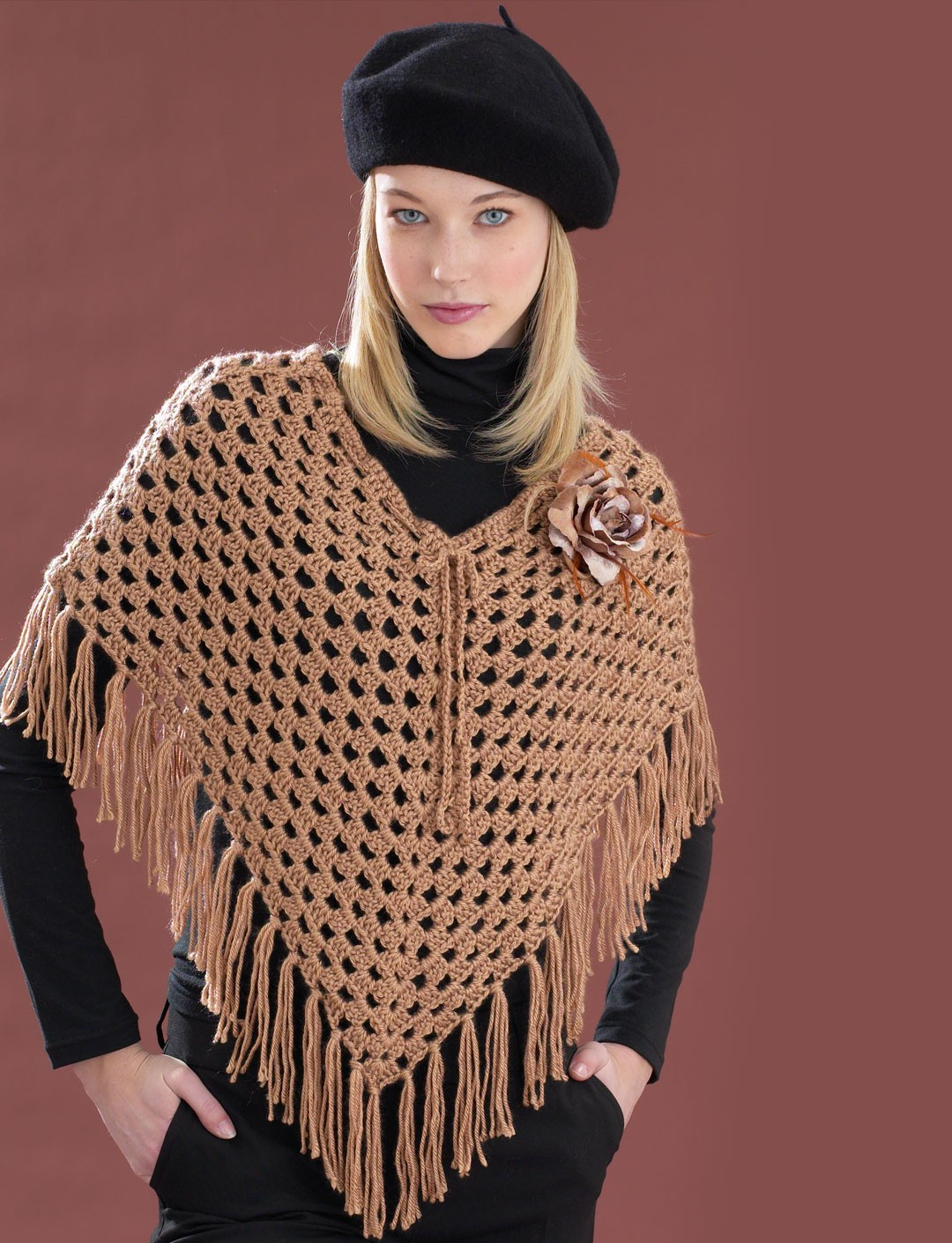 Cool Poncho - Patterns Yarnspirations