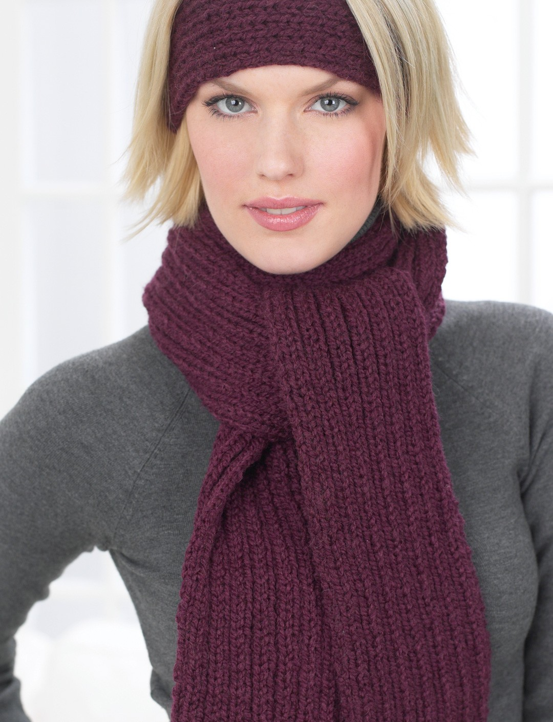 Knitting Pattern Ribbed Headband : Ribbed Headband and Scarf - Patterns Yarnspirations