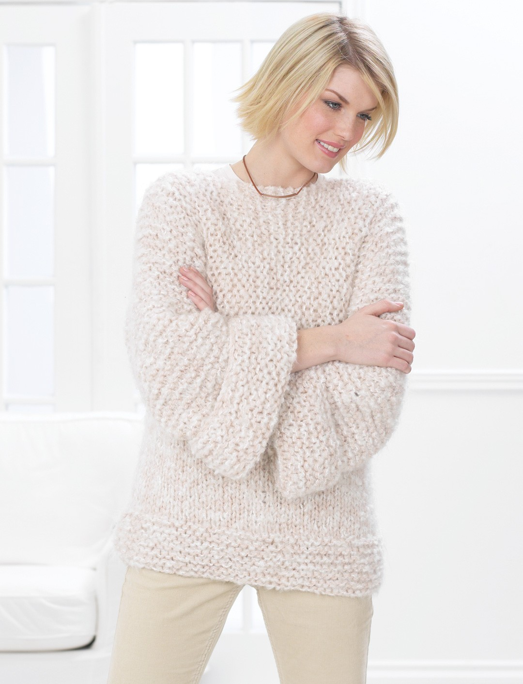 Garter Stitch and Stocking Stitch Sweater