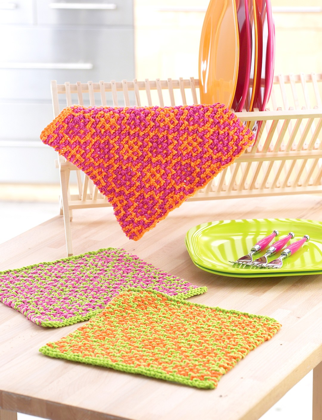 Mosaic Flower Dishcloths
