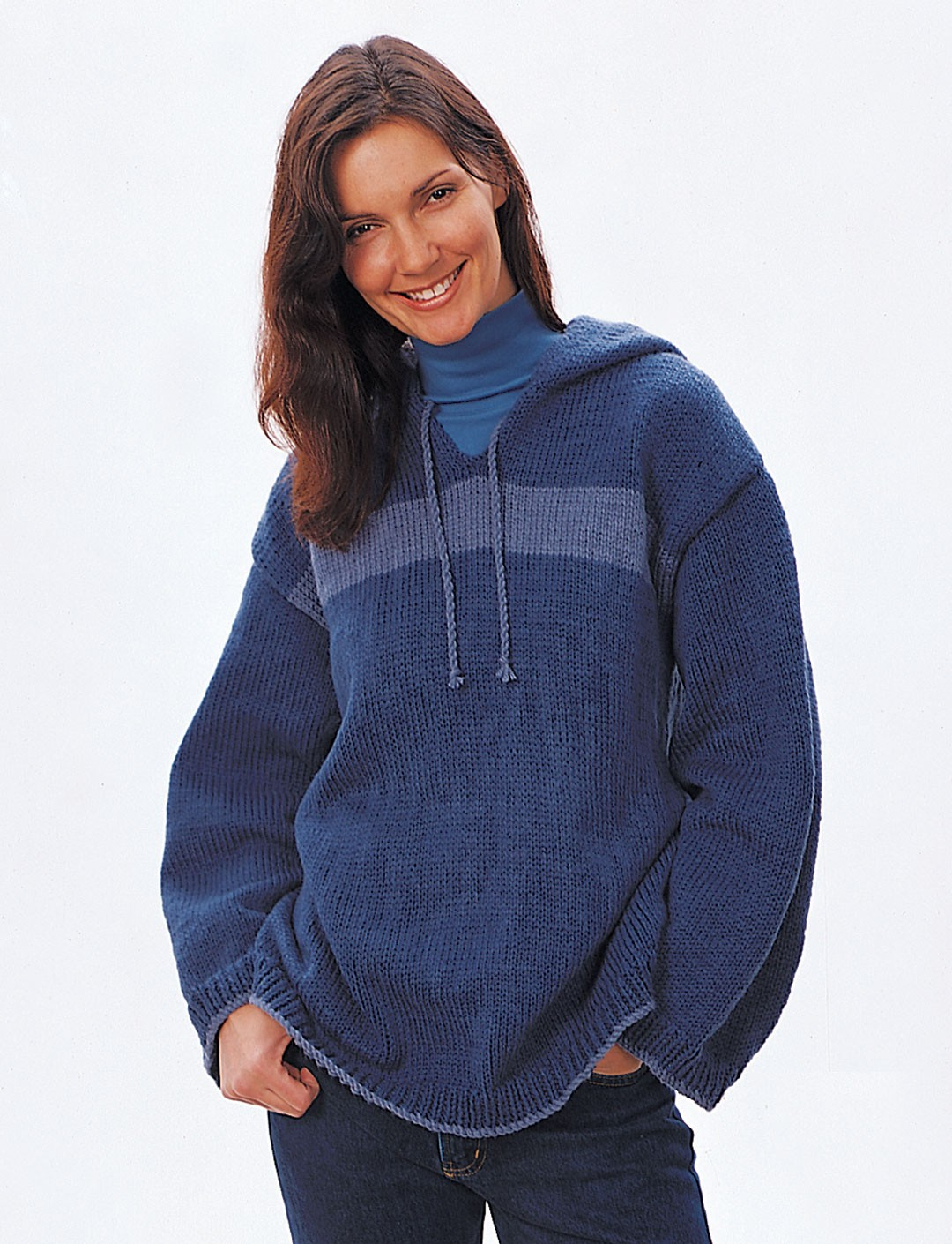 Knitting Pattern Hooded Cardigan : Hooded Sweatshirt - Patterns Yarnspirations