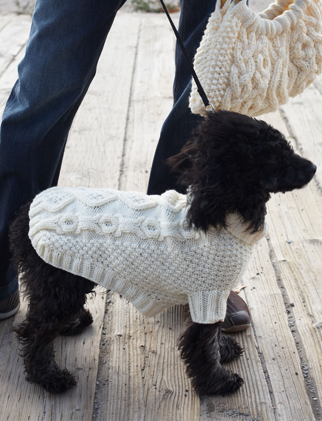 Knit Dog Coat Pattern : Biscuits & Bones Dog Coat - Patterns Yarnspirations
