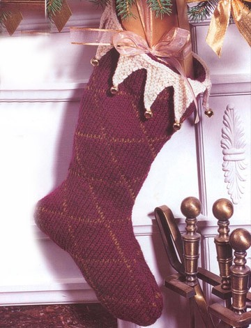 Burgundy Holiday Stocking