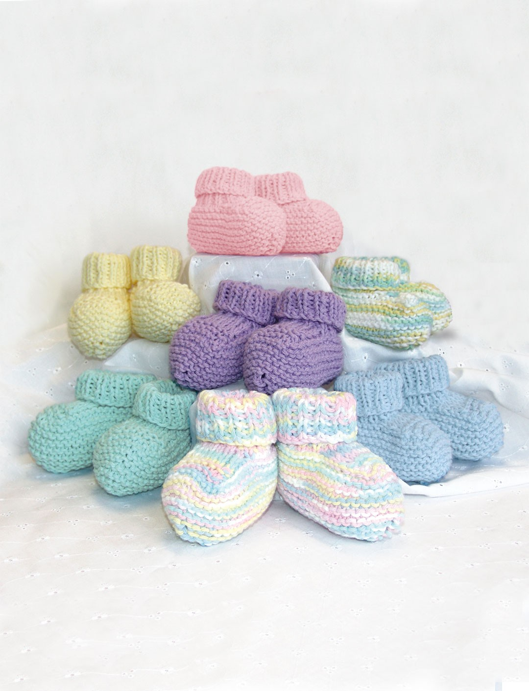 Knitting Baby Booties Patterns : Knit bibs and booties patterns yarnspirations