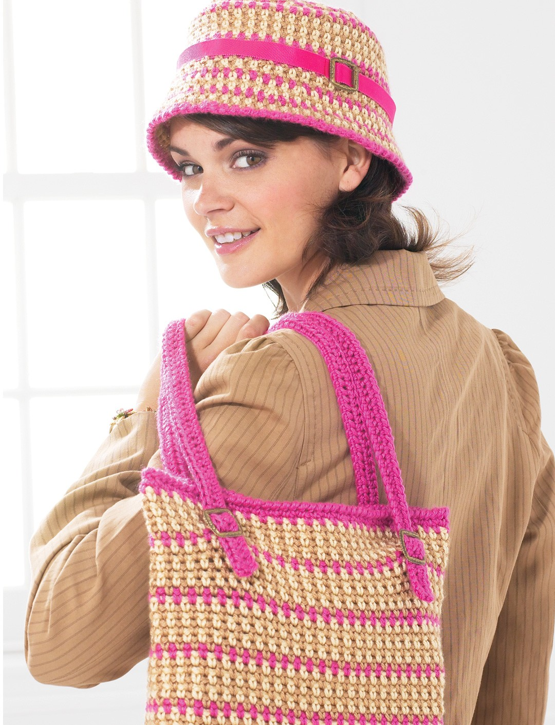 Bucket Hat and Bag - Pink Version