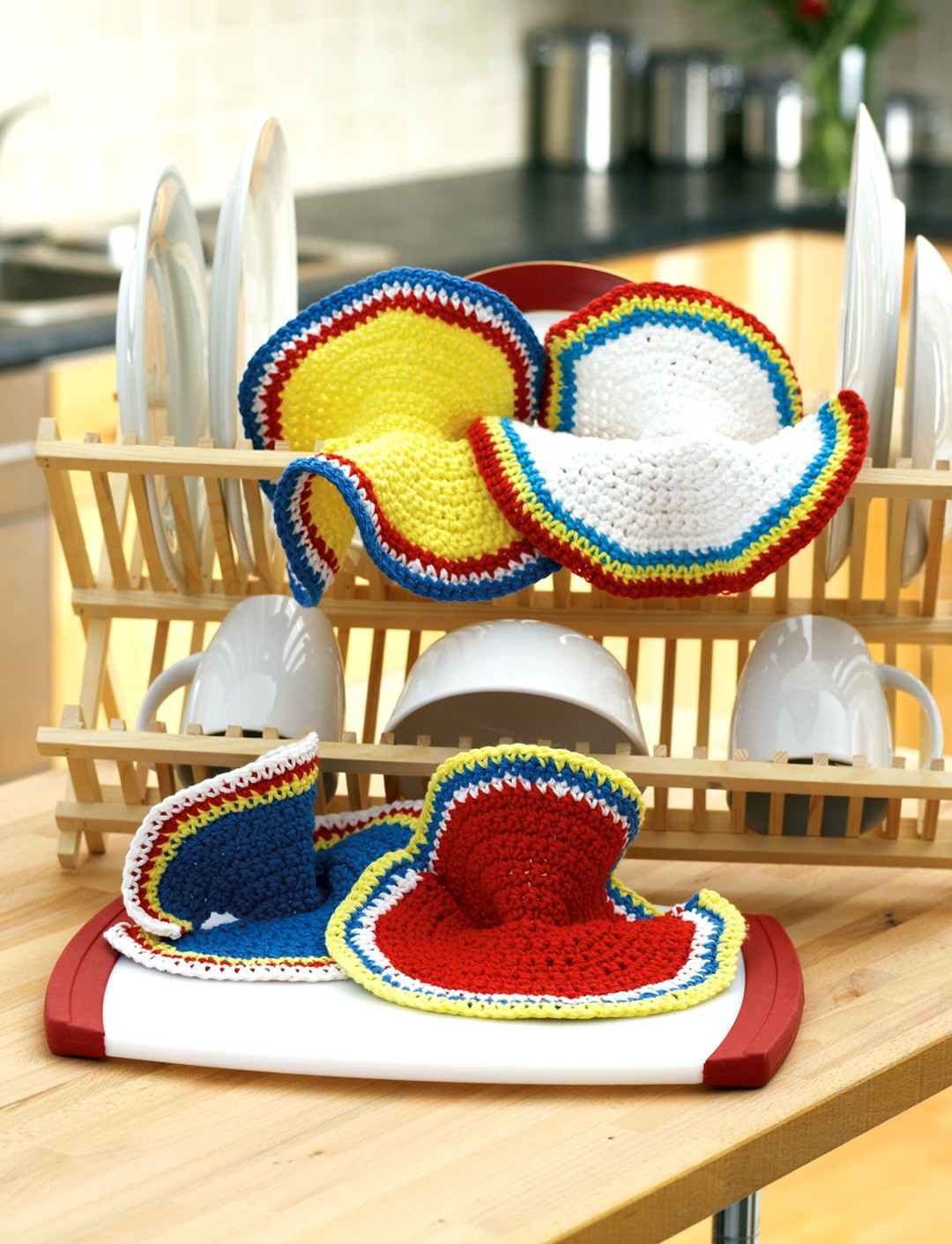 Primary Ruffles Dishcloth