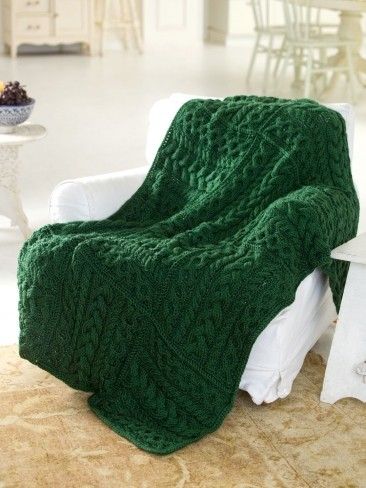 Cabled Cubed Throw