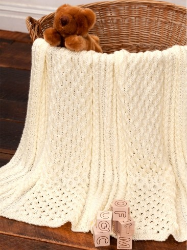 Irish Knitting Patterns Free : Caron Irish Eyes Baby Blanket, Knit Pattern Yarnspirations