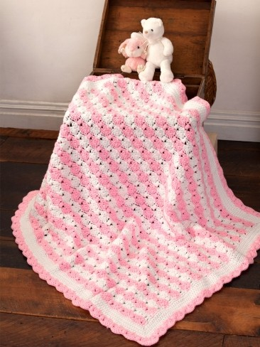 Peppermint Puff Baby Blanket