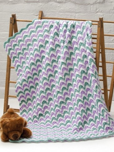 Lace Waves Baby Blanket