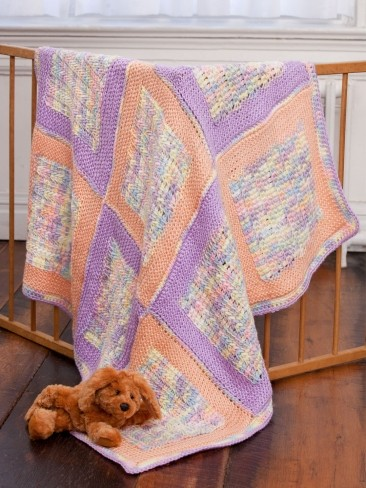 Soft Squares Baby Blanket