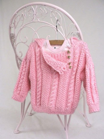 Cabled Toddler Pullover