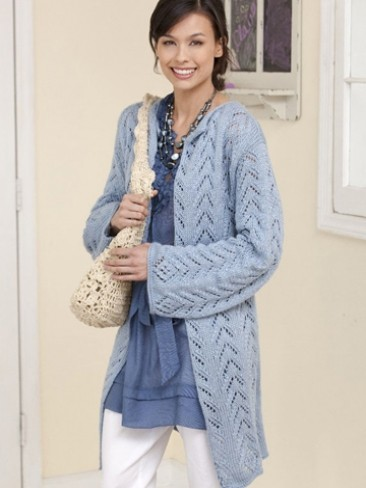 Caron Long & Lacy Knit Jacket, Knit Pattern Yarnspirations