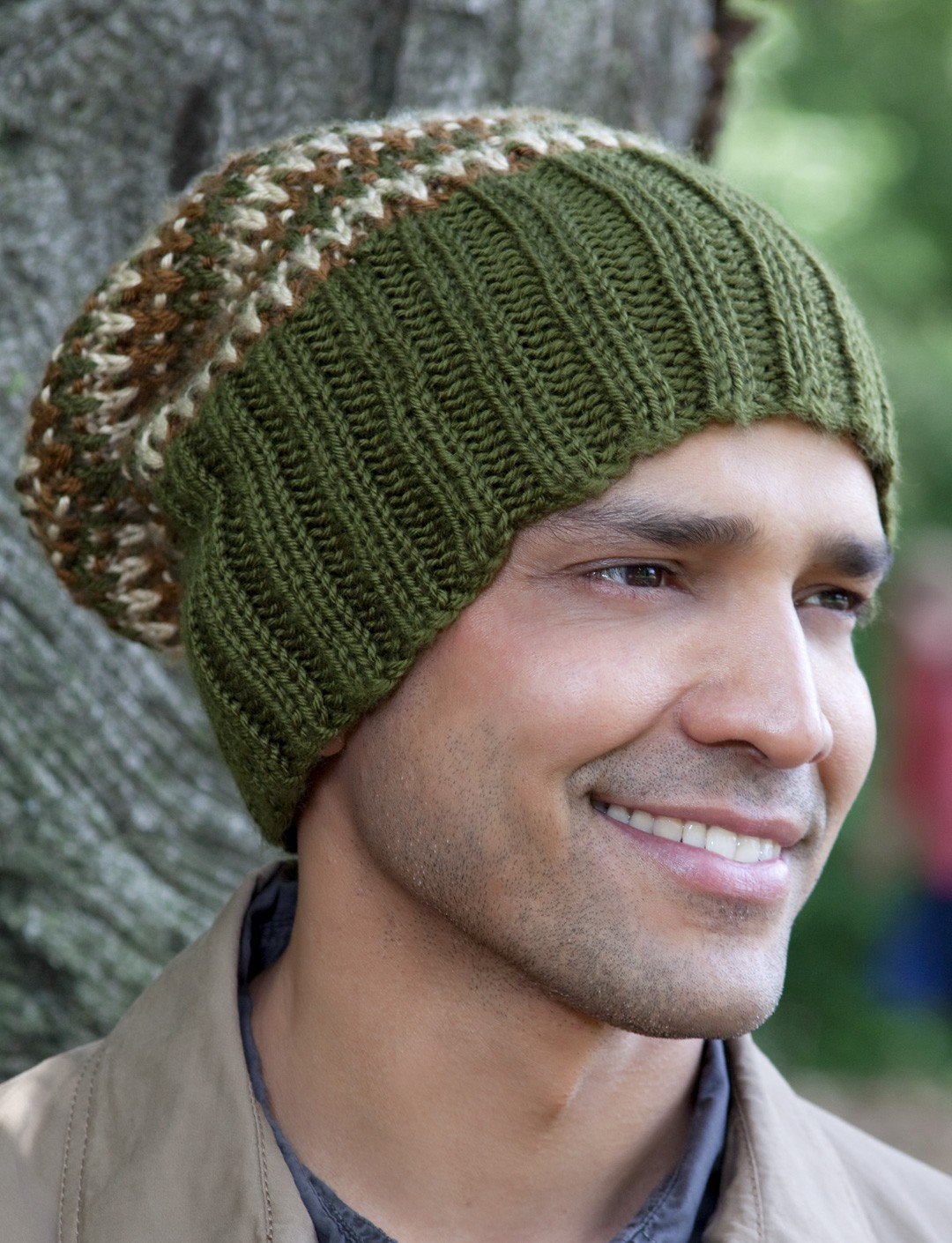 Caron his tri color hat knit pattern yarnspirations his tri color hat bankloansurffo Image collections