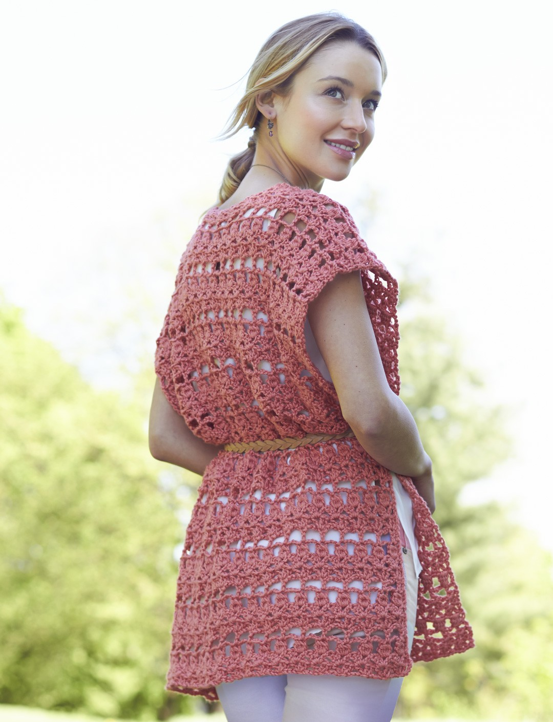 Crochet Short Ruana - Patterns Yarnspirations