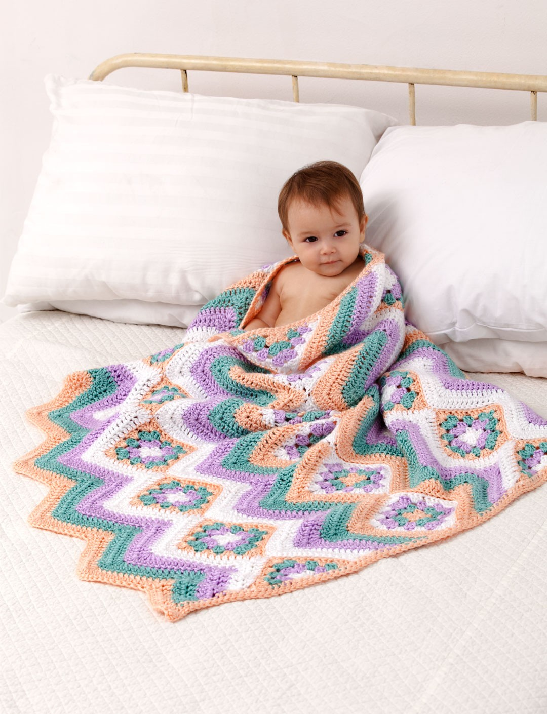 Baby Granny Stripes Blanket
