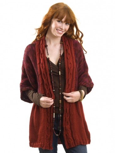 Cable Front Cardigan
