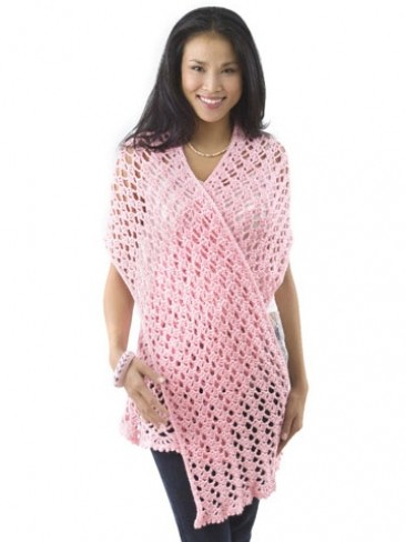 """Pink Ribbon"" Shawl"