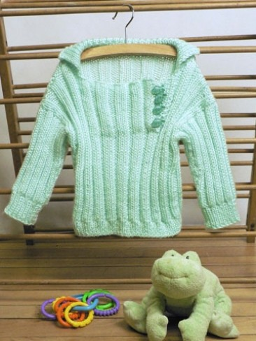 Soft Ribbed Toddler Pullover