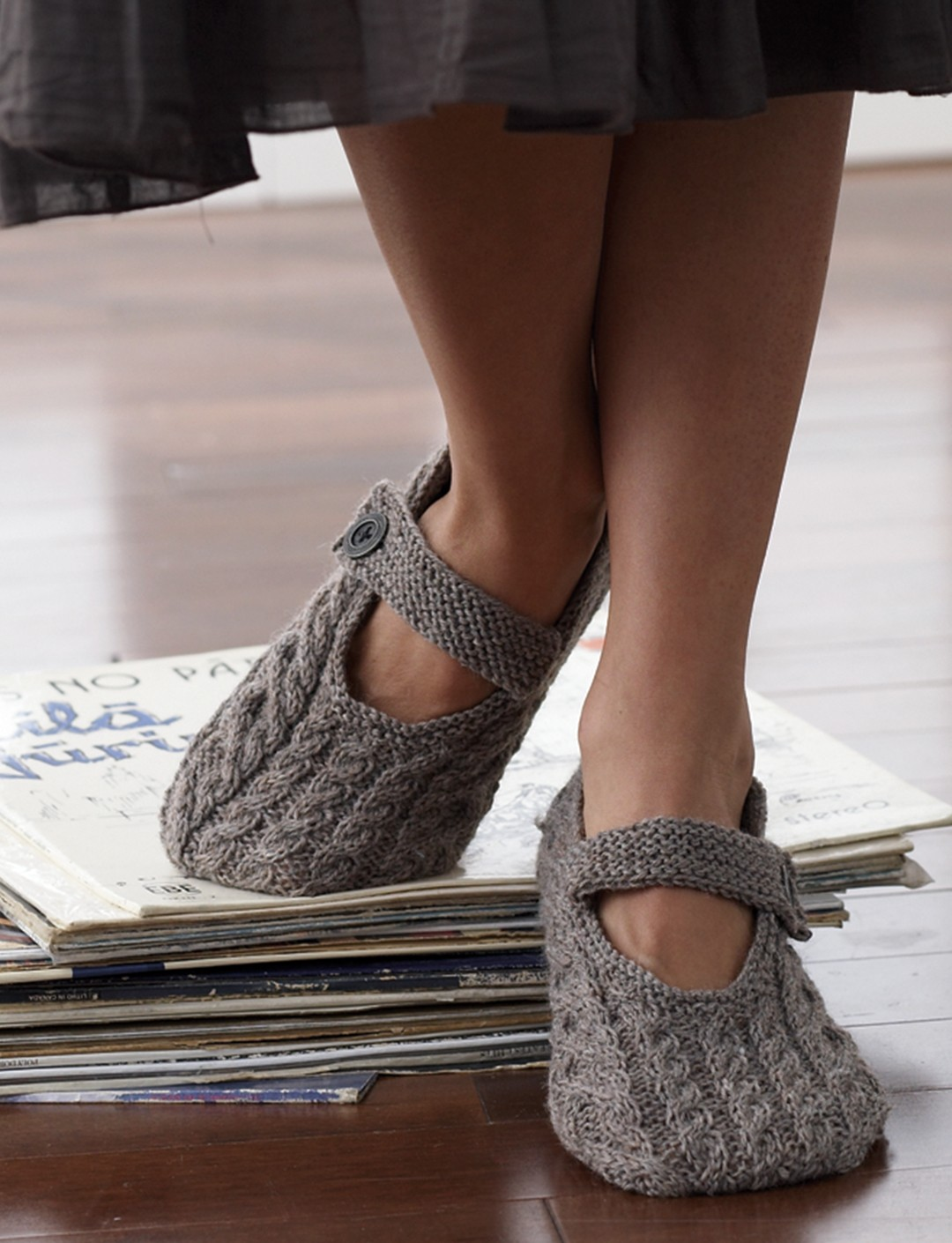 Cabled Slippers