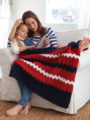Striped Ripple Afghan