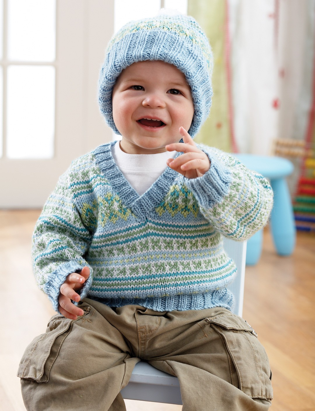 Fair Isle Pullover and Hat