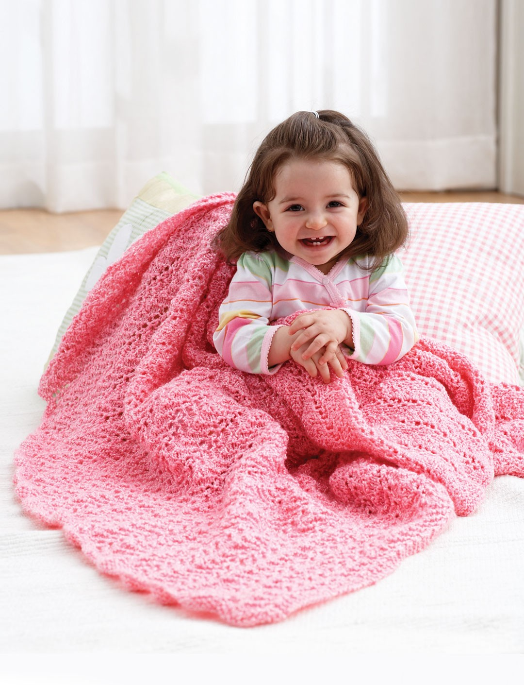 Knitting Patterns Using Baby Yarn : Knit Blanket - Patterns Yarnspirations