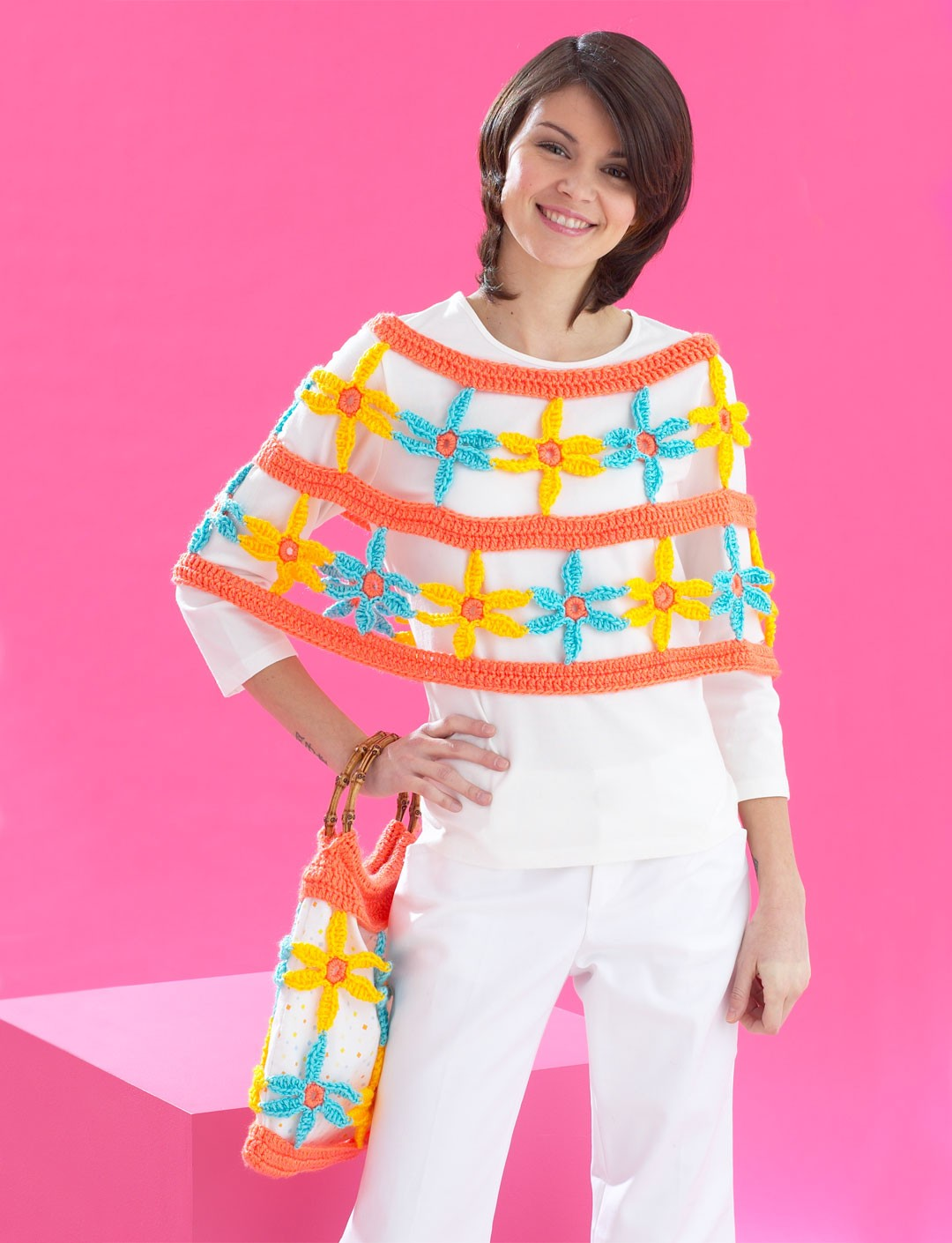 Daisy Chain Poncho and Bag