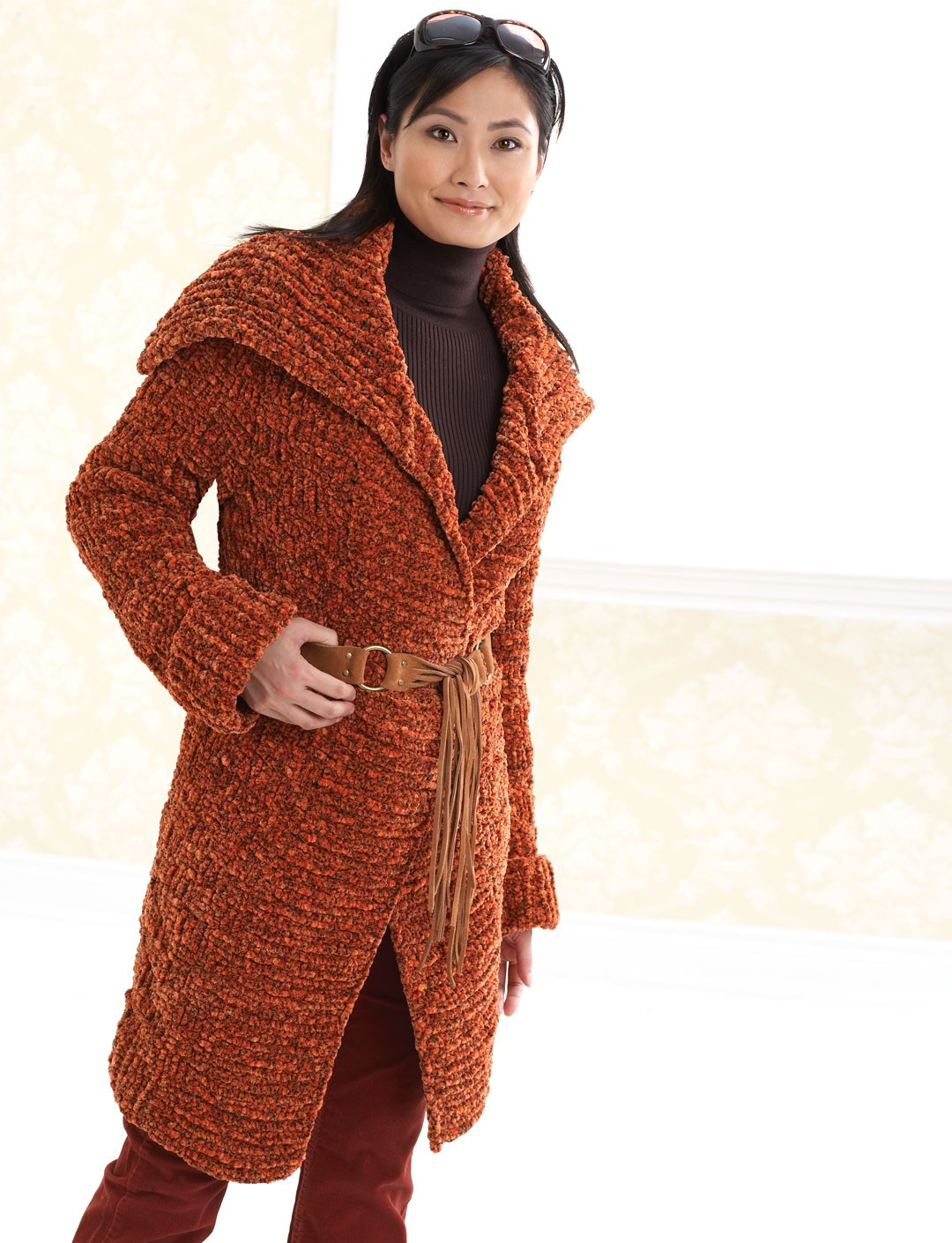 Amazing Knitting Patterns : Patons Long Coat Yarnspirations